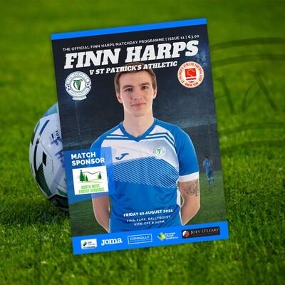 Issue 11 2021, Finn Harps v St Patrick's Athletic Programme