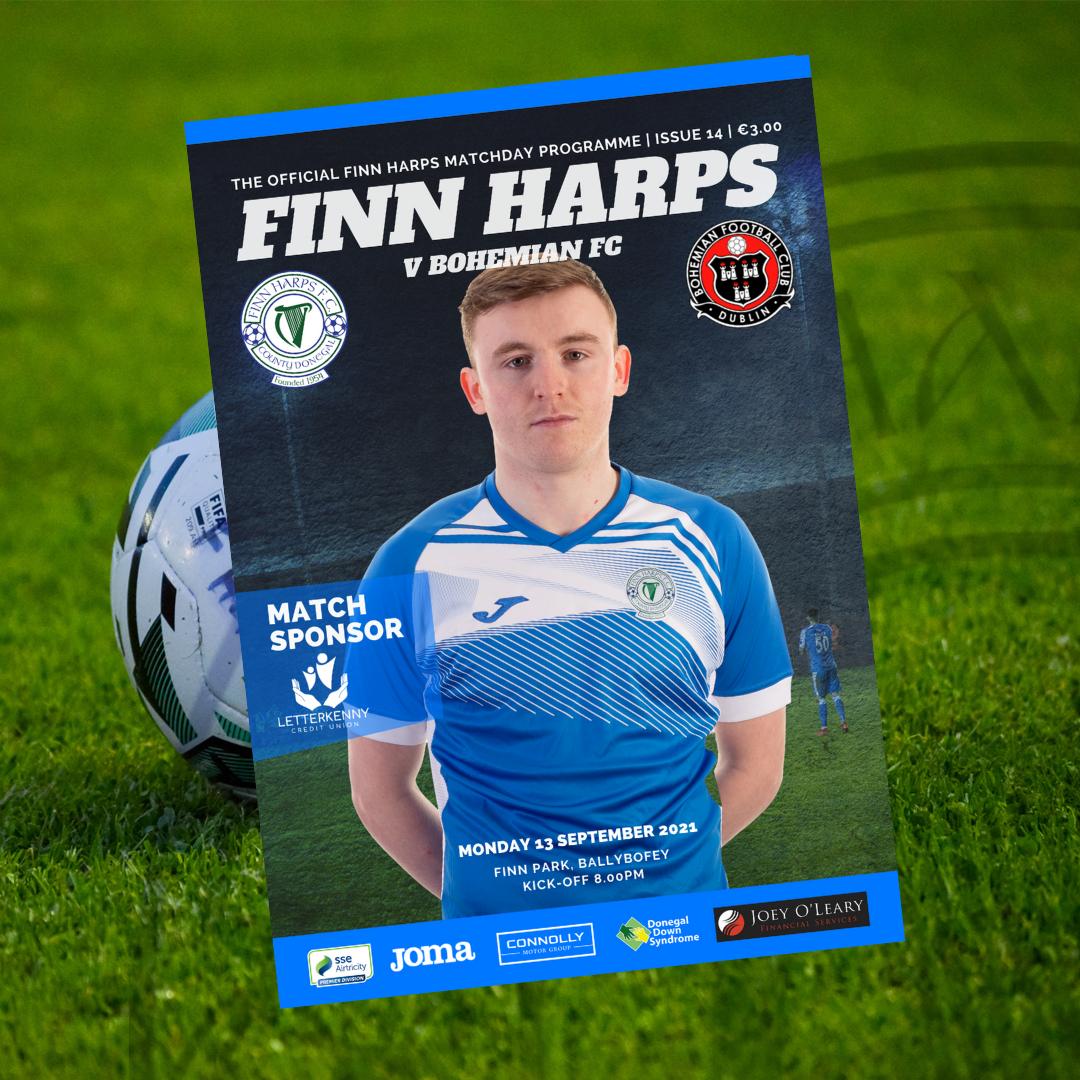 Issue 14 2021, Finn Harps v Bohemian FC Programme
