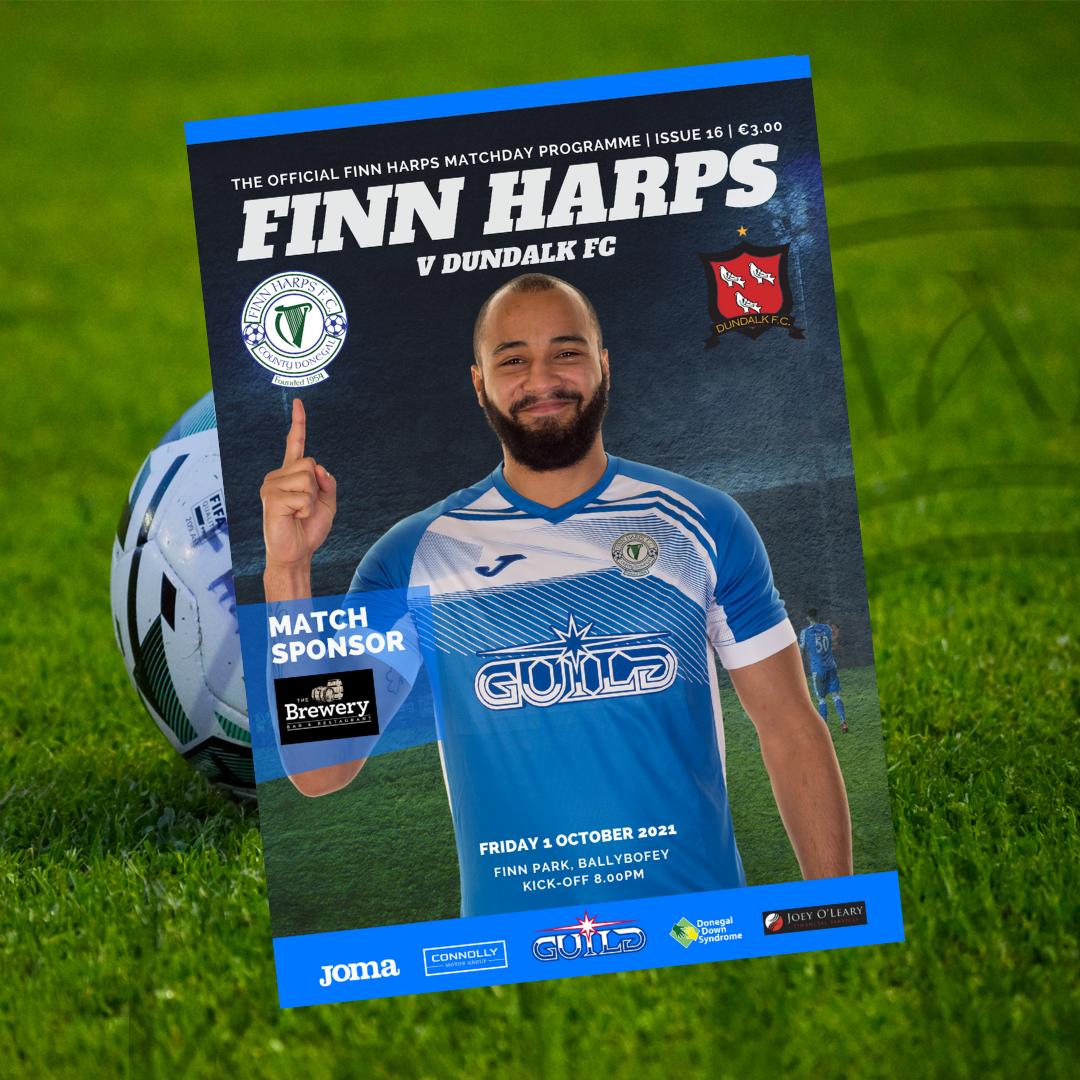 Issue 16 2021, Finn Harps v Dundalk Programme