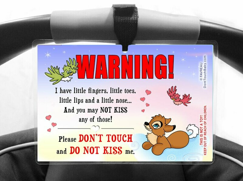 Don't Touch Don't Kiss the Baby Car Seat Sign, Seacat Dreams, Girl