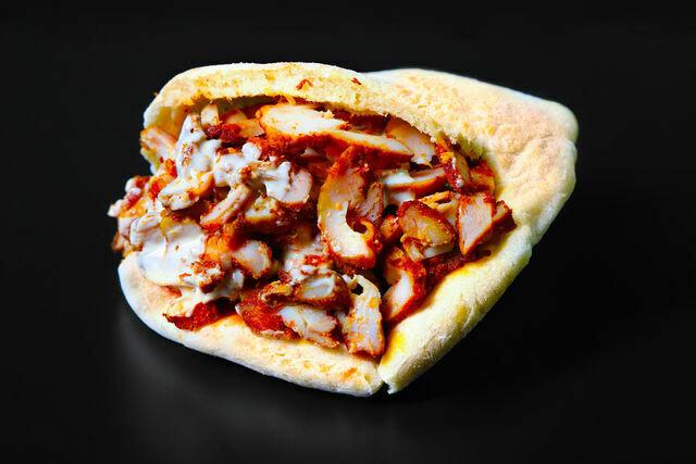 Shawarma chicken- pita