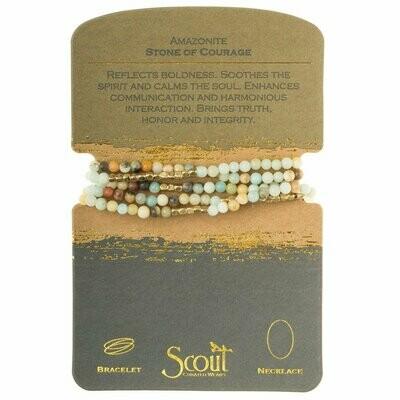 Stone Wrap Bracelet/Necklace - Amazonite - Stone of Courage