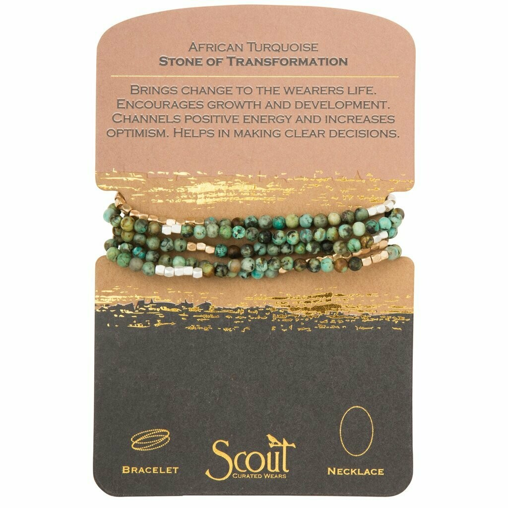 Stone Wrap - African Turquoise