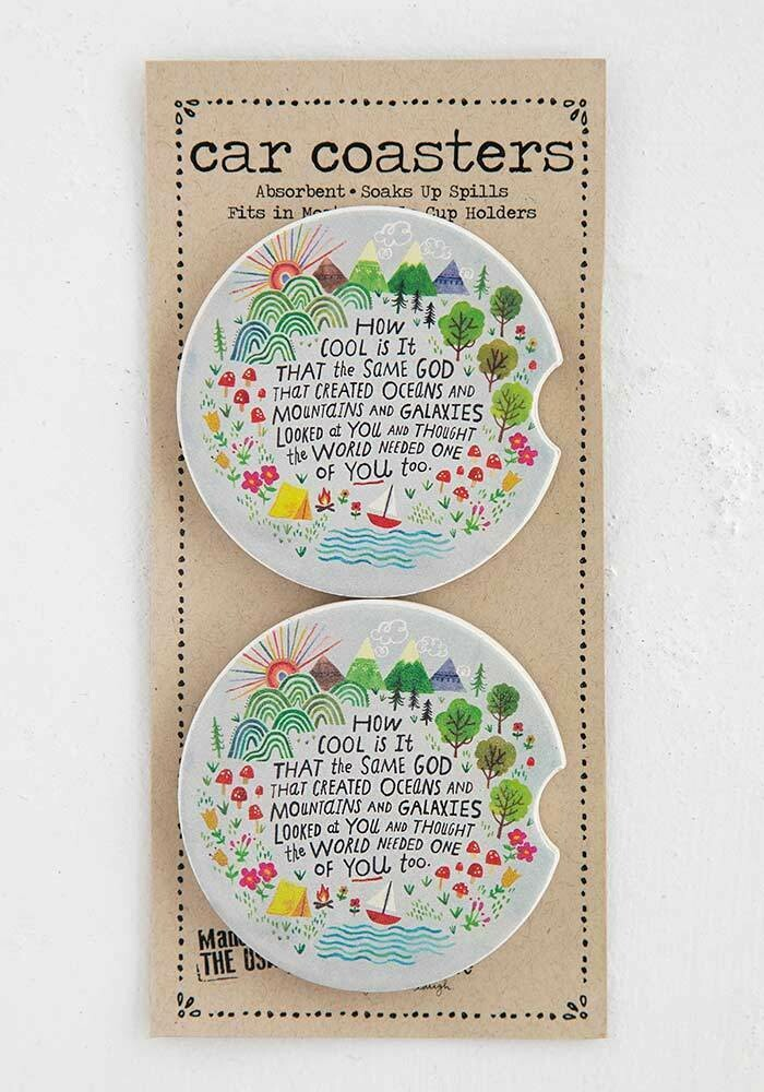 How Cool is God Car Coaster Set of 2