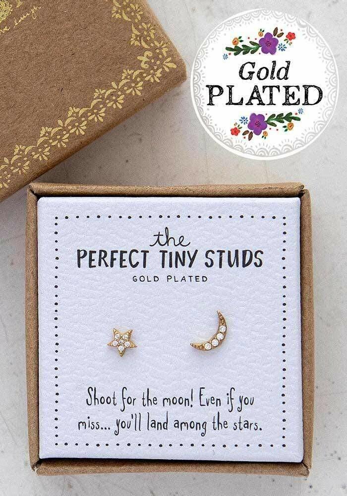 Star & Moon Perfect Tiny Studs