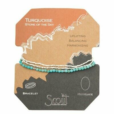 Delicate Stone Wrap - Turquoise