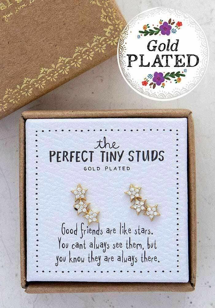 Perfect Tiny Studs - Good Friends Like Stars