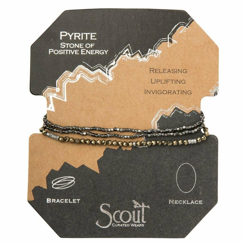 Delicate Stone Wrap - Pyrite