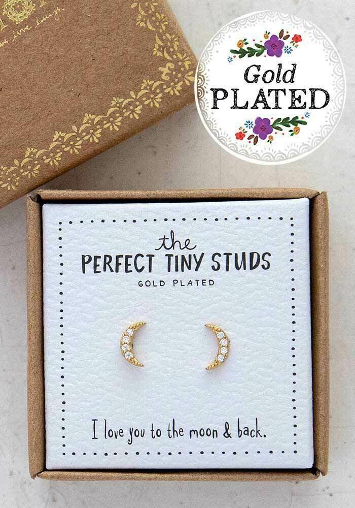 Moon - Perfect Tiny Studs