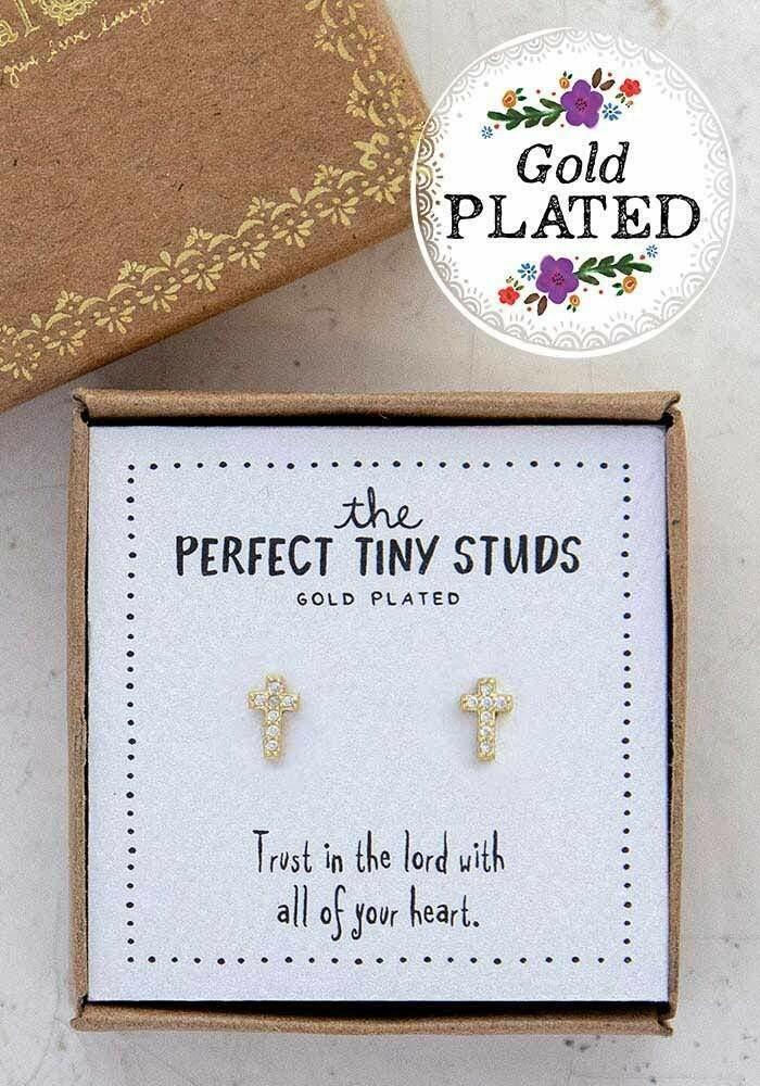 Cross Perfect Tiny Studs