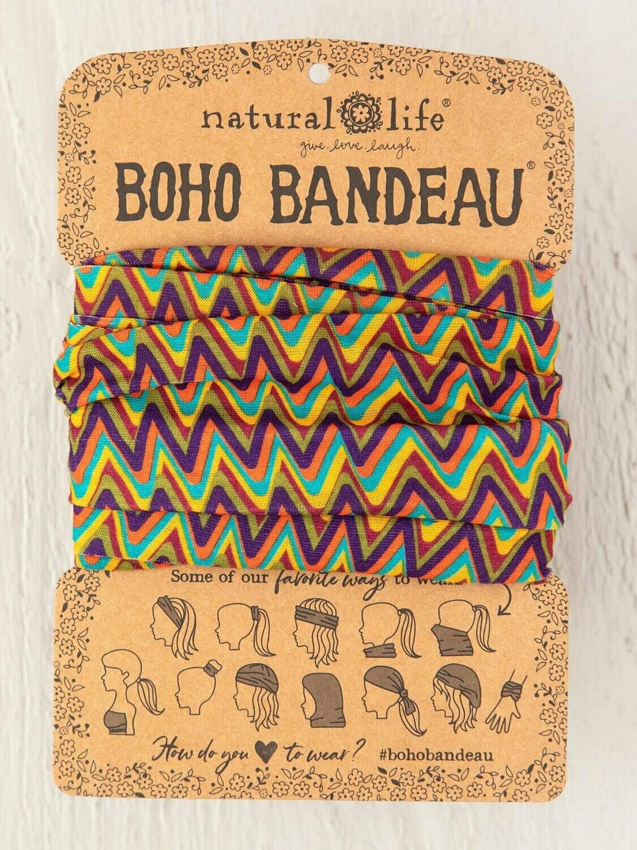Multi Colored Zigzag Boho Bandeau