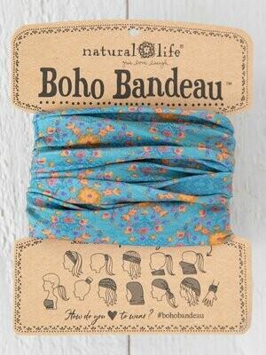 Blue Flower Stamp Boho Bandeau