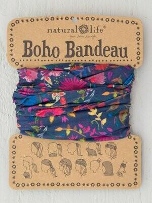 Navy Wild Flowers Boho Bandeau