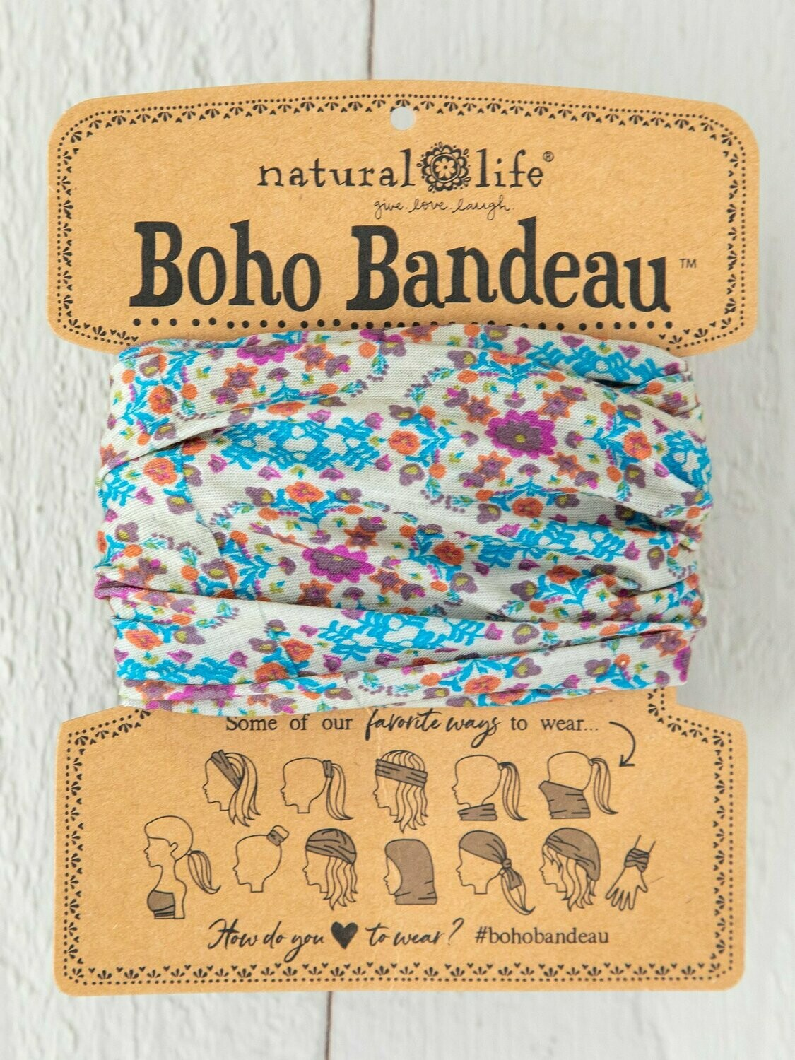 Grey Flower Stamp Boho Bandeau
