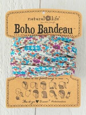 Grey Flower Stamp Boho Bandeau