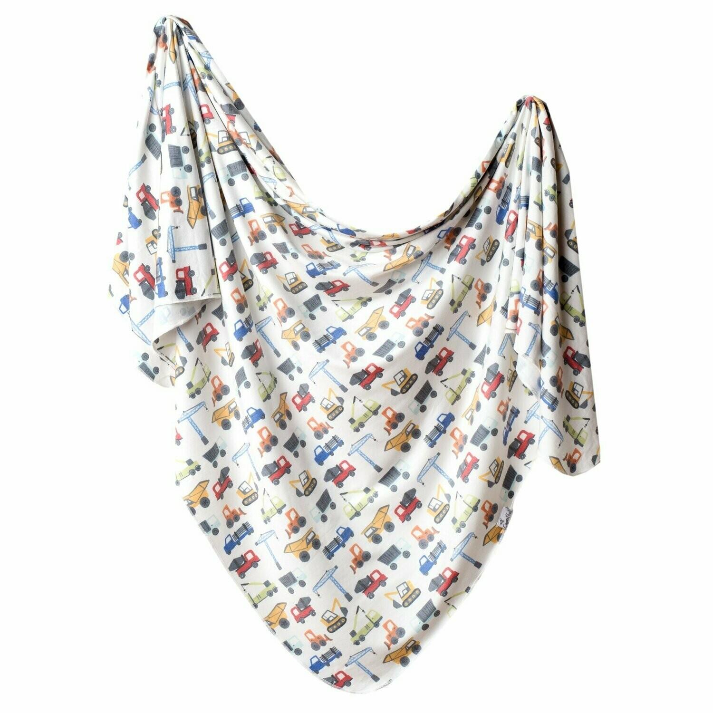 Single Knit Swaddle Blanket - Diesel