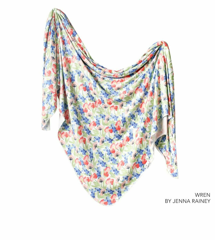 Single Knit Swaddle Blanket - Wren