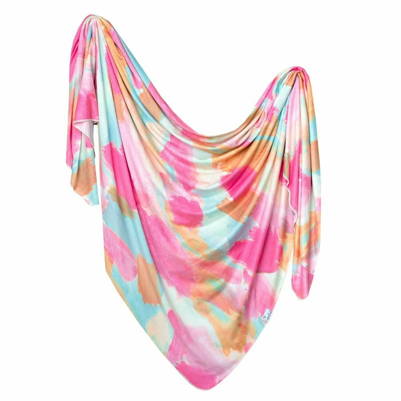 Single Knit Swaddle Blanket - Monet