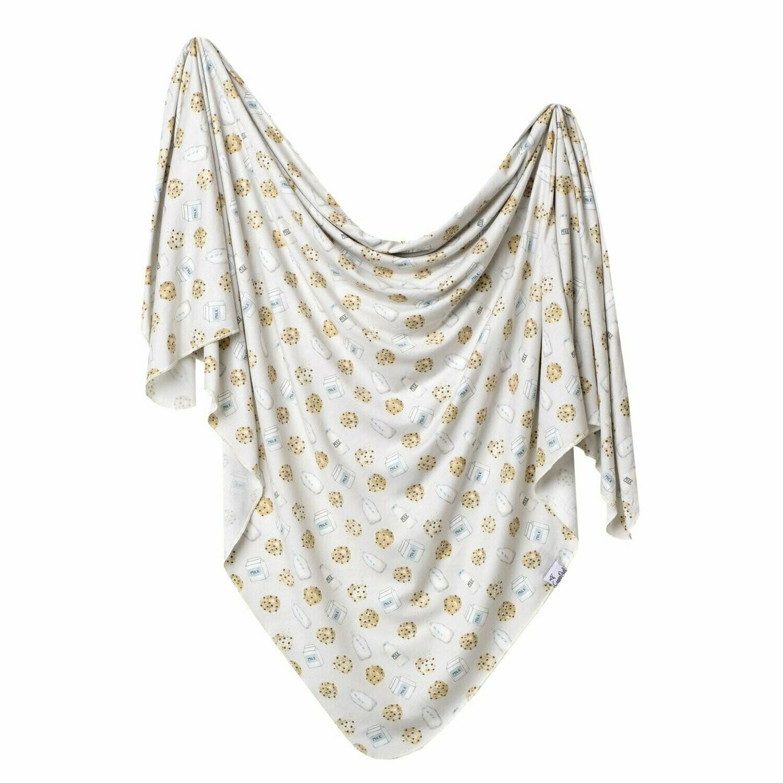 Single Knit Swaddle Blanket - Chip