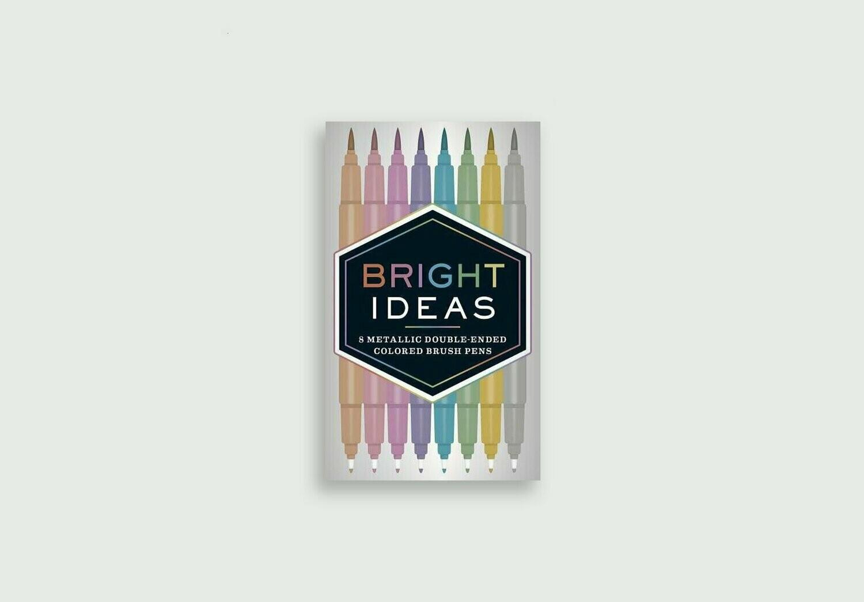 Bright Ideas Metallic Brush Pens