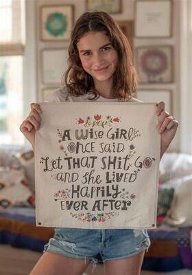 Wise Girl Canvas Tapestry