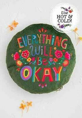 Everything Will Be Okay Lg Round Heating Pad