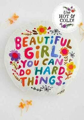 Beautiful Girl Lg Round Heating Pad