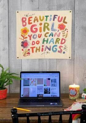 Beautiful Girl Mini Canvas Tapestry