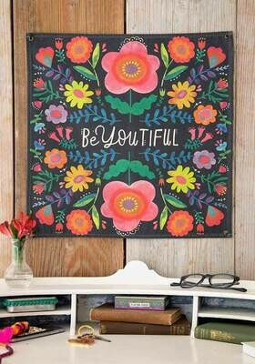 Be You tiful Mini Canvas Tapestry