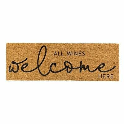 All Wines Welcome Here Coir Door Mat