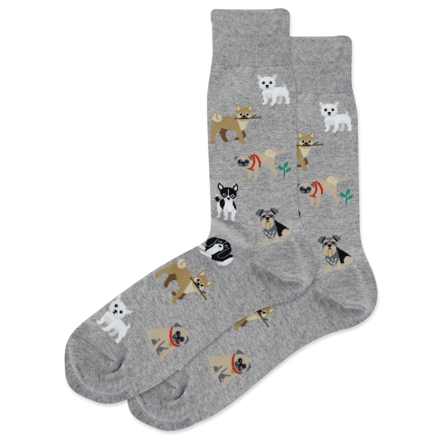 Dogs Of The World GREYH Mens Sock