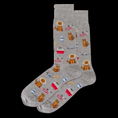 Veterinarian GREYH Mens Sock