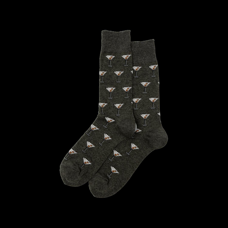 Martini - Charcoal Mens Socks