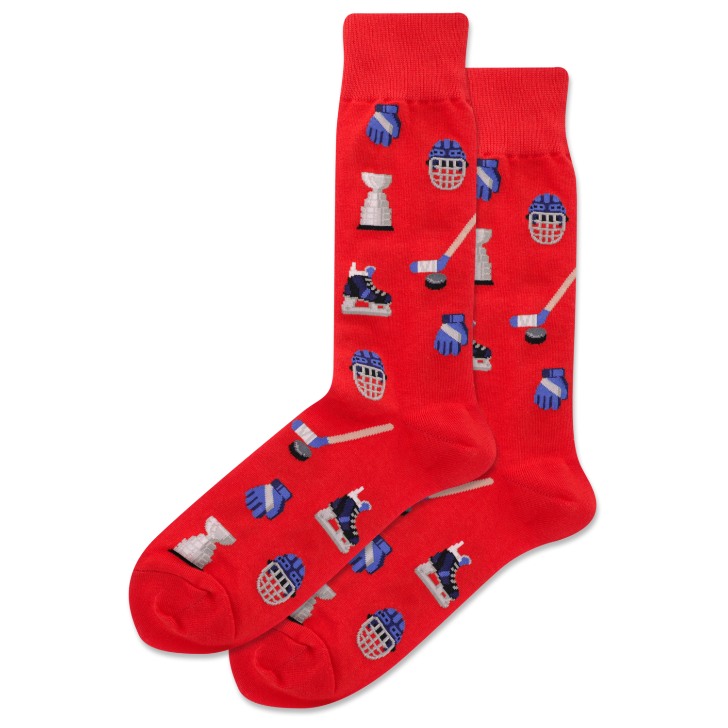 Hockey - Red  Mens Socks