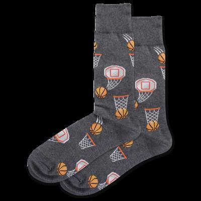Basketball - Charcoal mens Socks