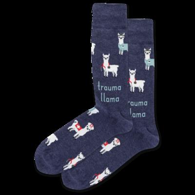 Trauma Llama - DENH Mens Socks