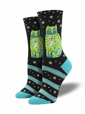 Celestial Moon Cat Socks