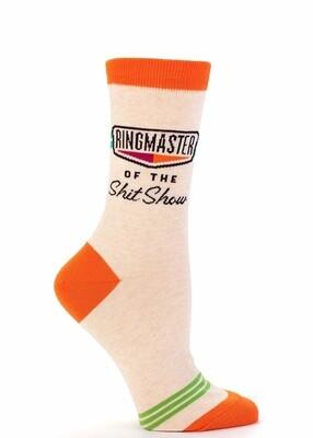 Ringmaster Of The Shit Show Women's Socks