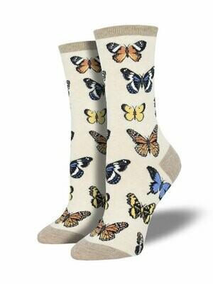 Majestic Butterflies Ivory Heather - Women