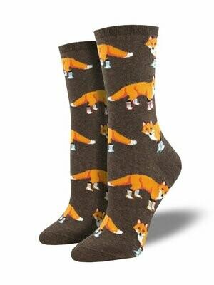 Socksy Foxes Brown Heather - Women