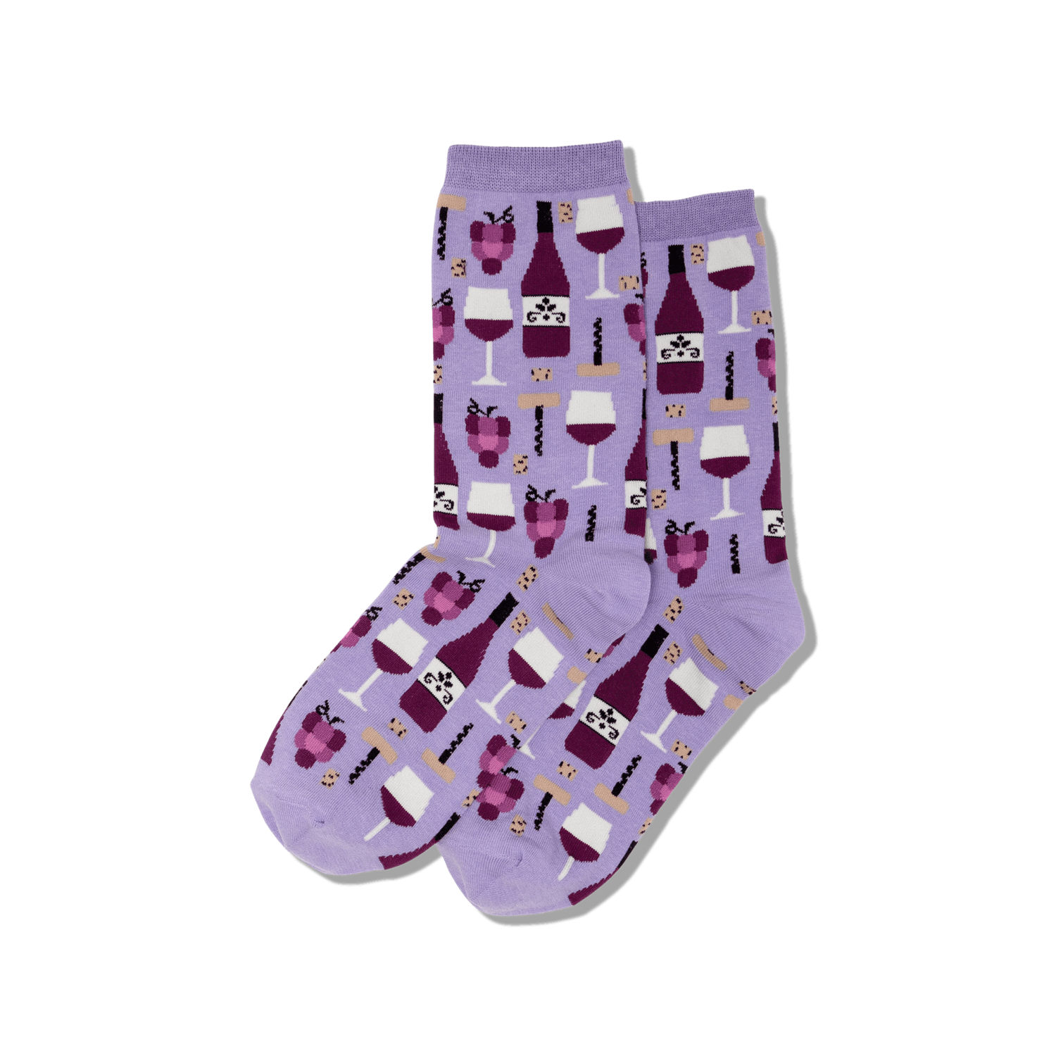 Wine LAVEN Womens Sock