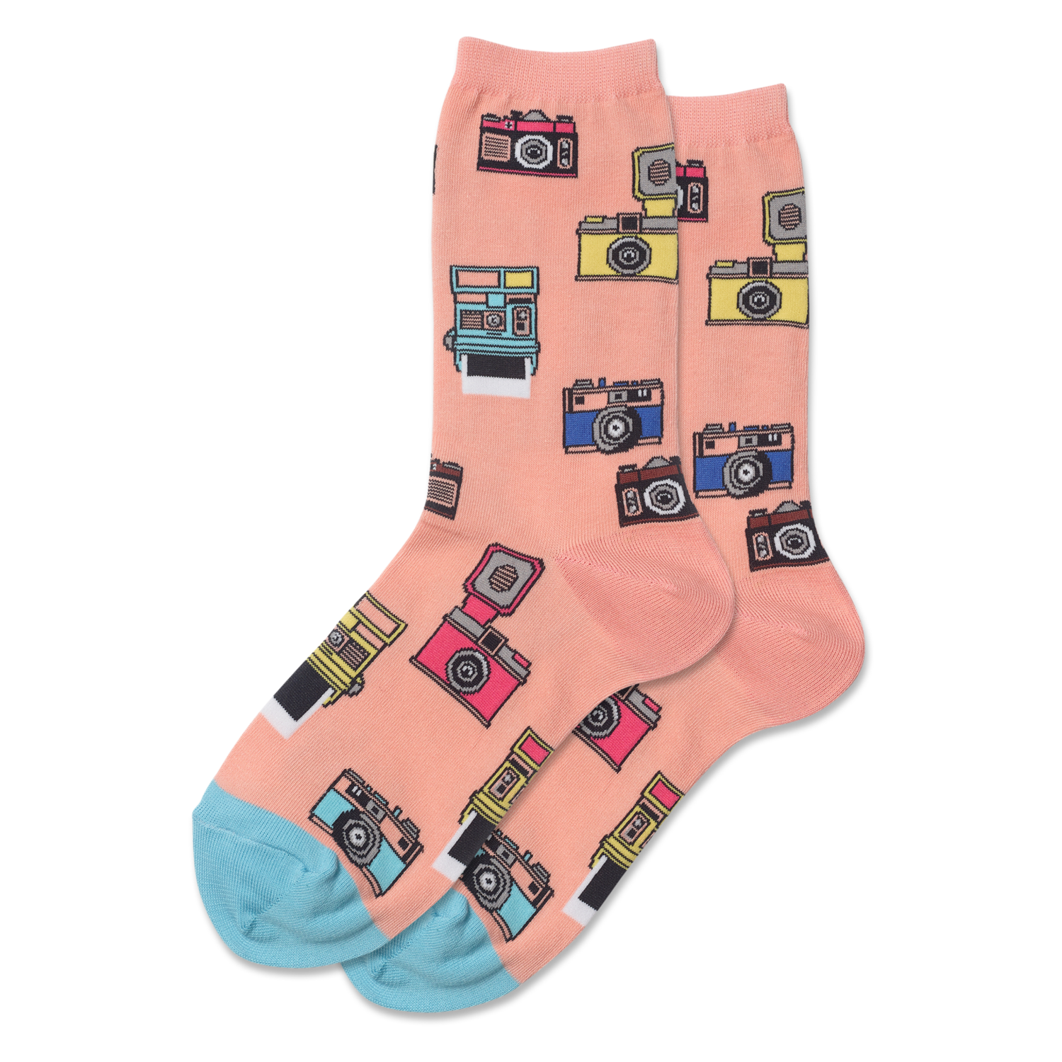 Vintage Cameras BLUSH Womens Sock
