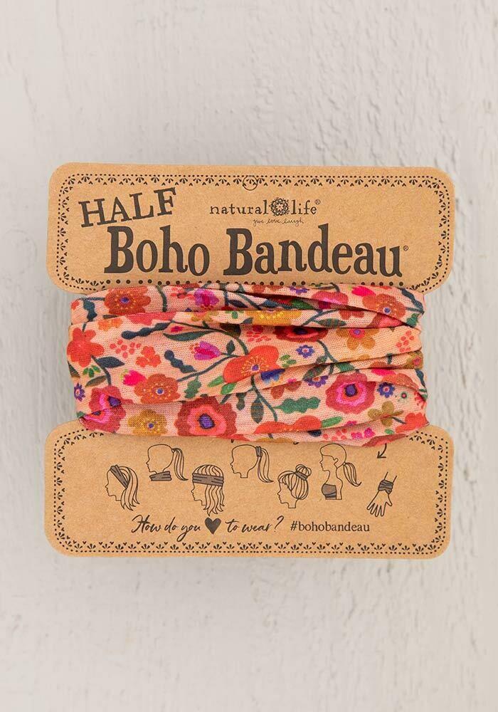 Blush Floral Half Boho Bandeau