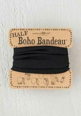 Black Half Boho Bandeau