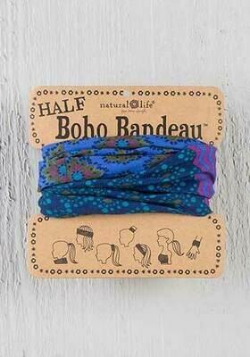 Purple & Blue Stripe Half Boho Bandeau