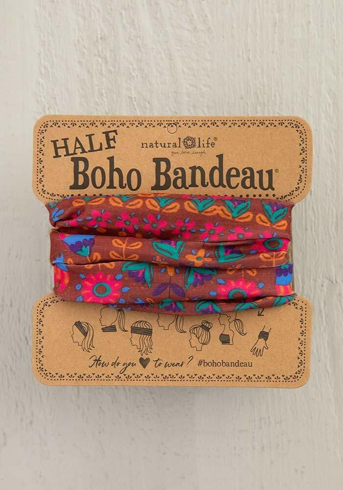 Red Floral Mandala Half Boho Bandeau