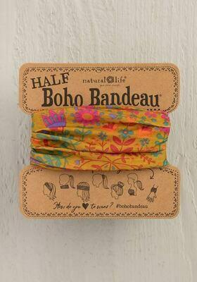 Mustard Floral Half Boho Bandeau