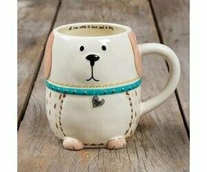 White Dog Mug