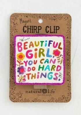Beautiful Girl Chirp Magnet Clip