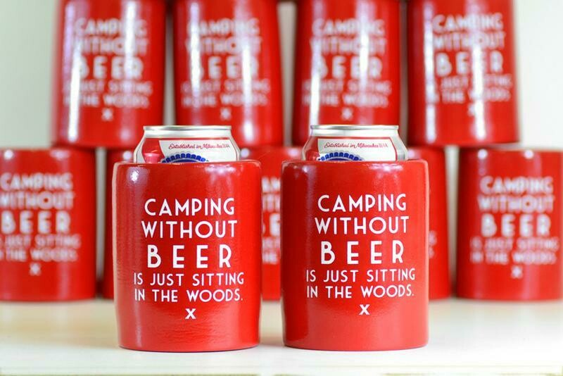 Camping Without Beer Coozie